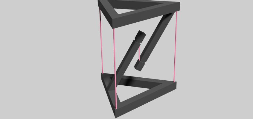 テンセグリティ構造①:3Dモデリング
